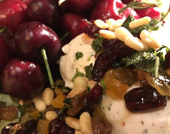 Goat Cheese Dripping with Goodies