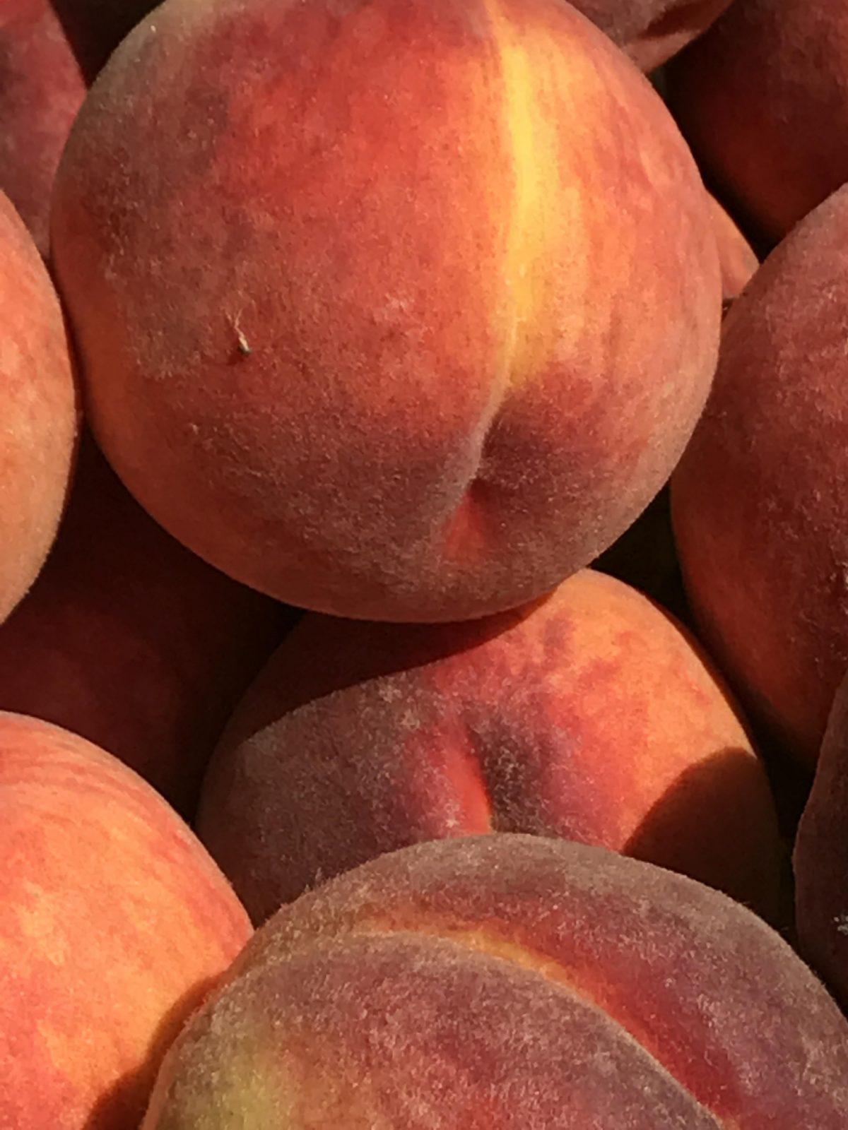 farmers market peaches