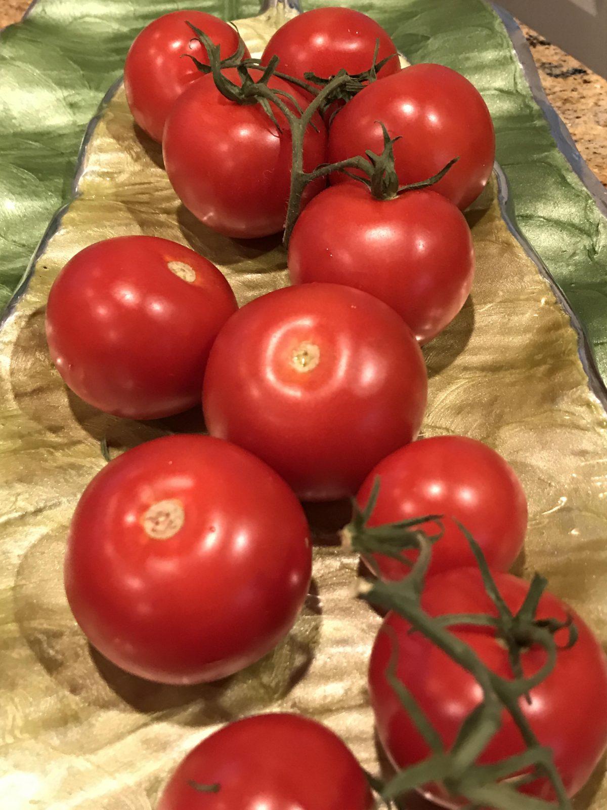 vine on tomatoes