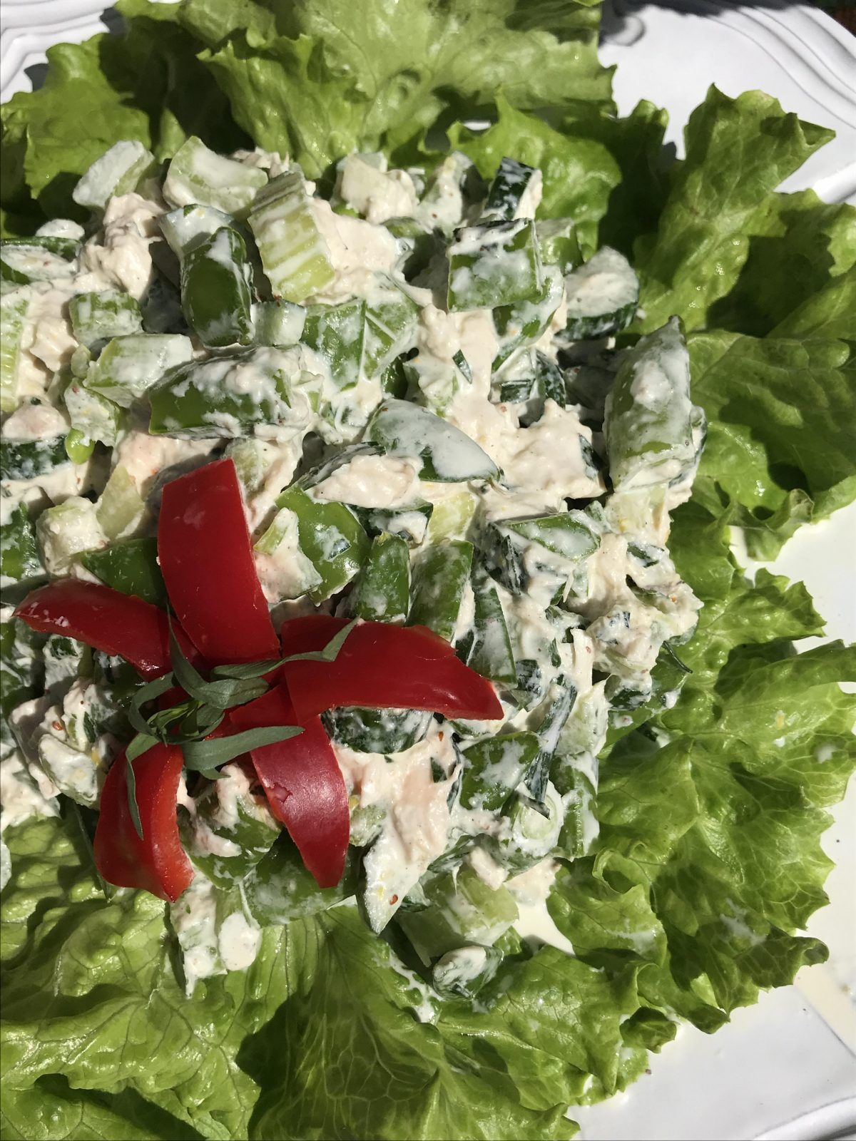 gorgeous green chicken salad
