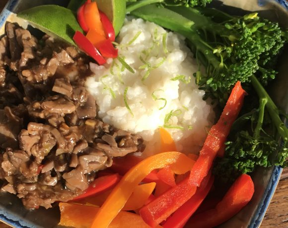 Broccolini Beef Bowl