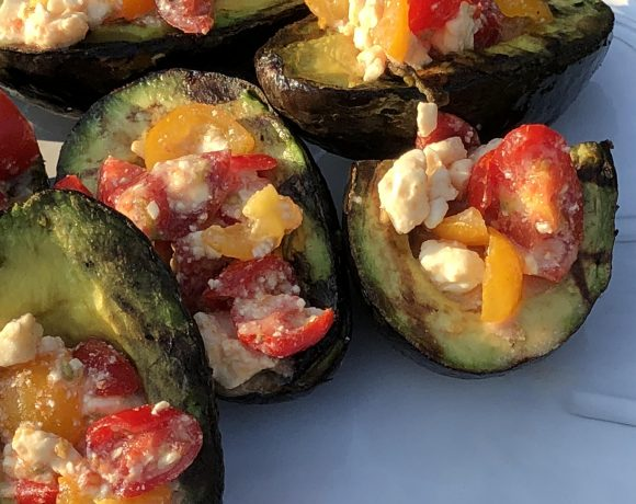 Grilled Avocados Overflowing with Tomato and Feta