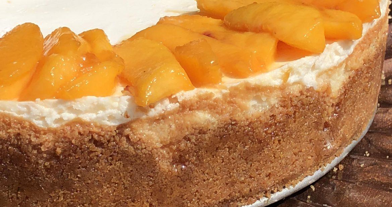 just peachy cheesecake