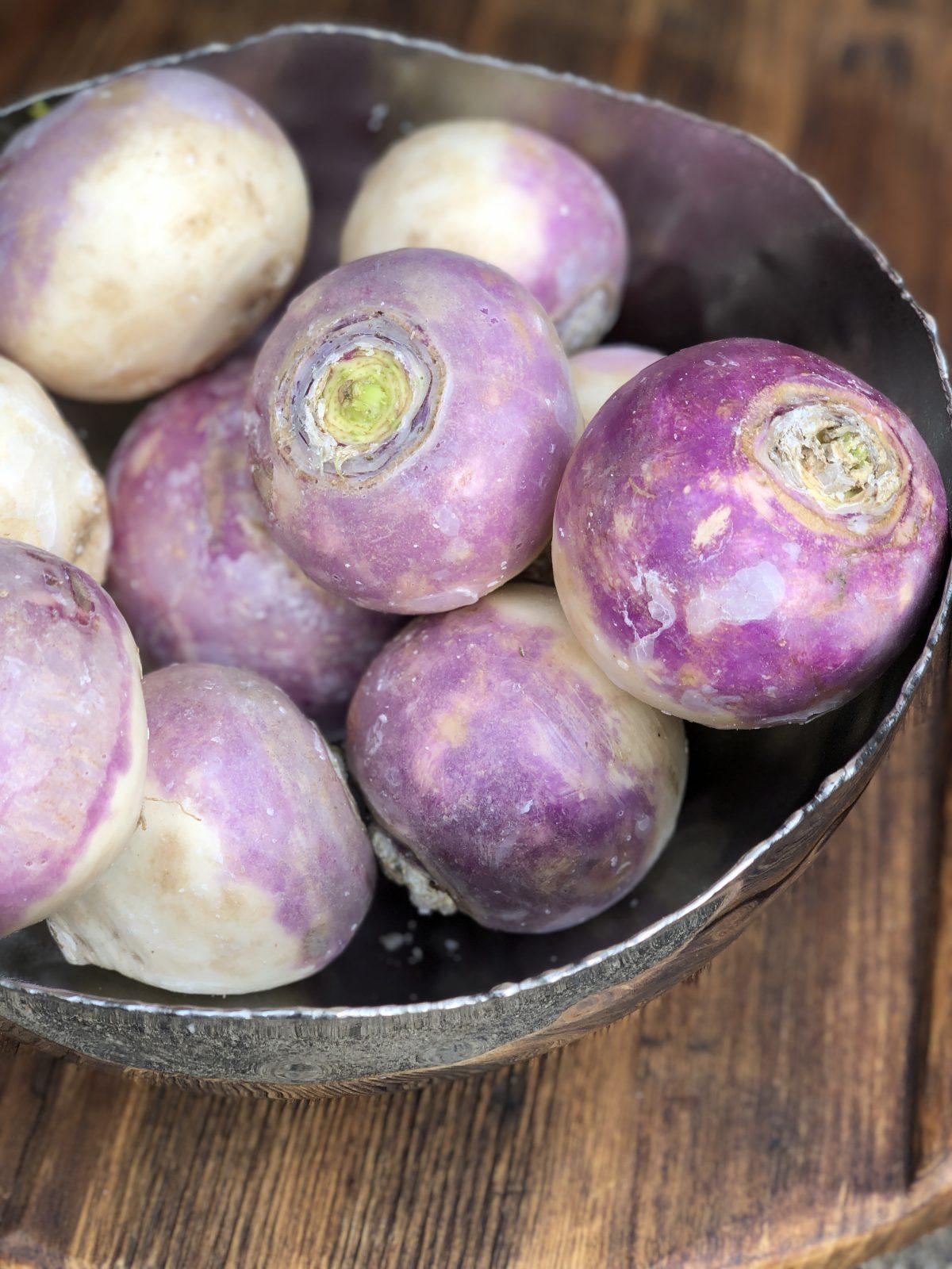 purple turnips