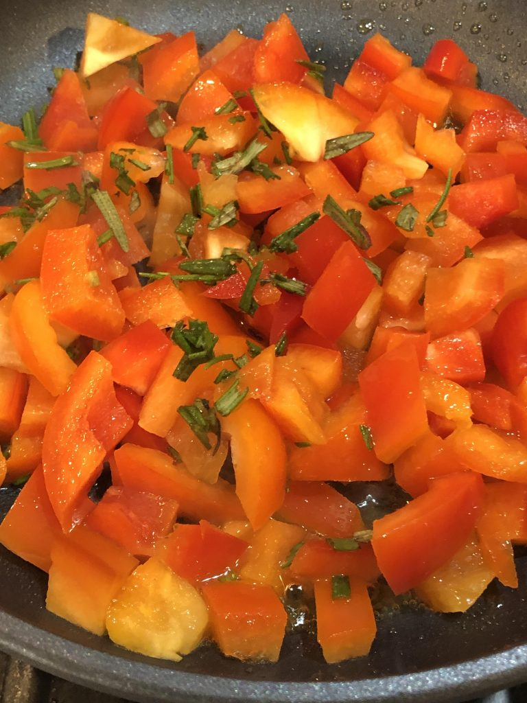 red peppers and rosemary