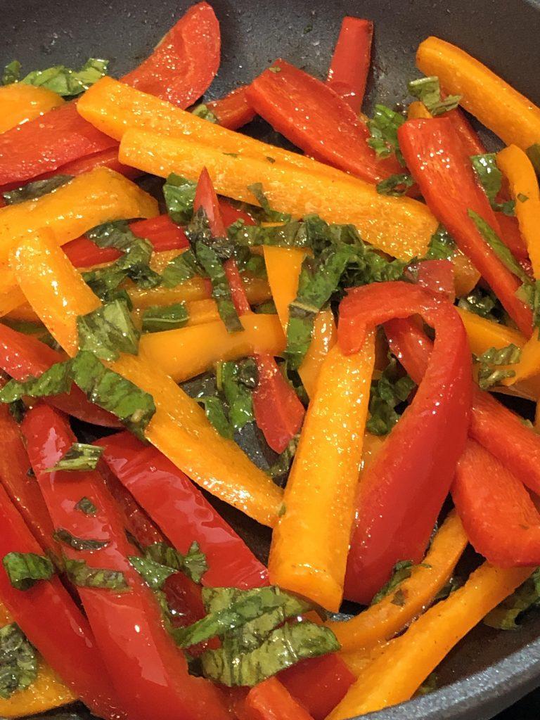 pepper and basil saute