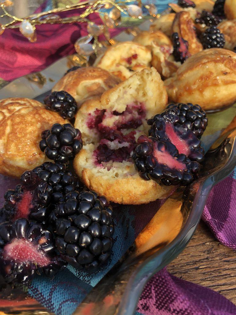 gorgeous blackberry ebelskivers