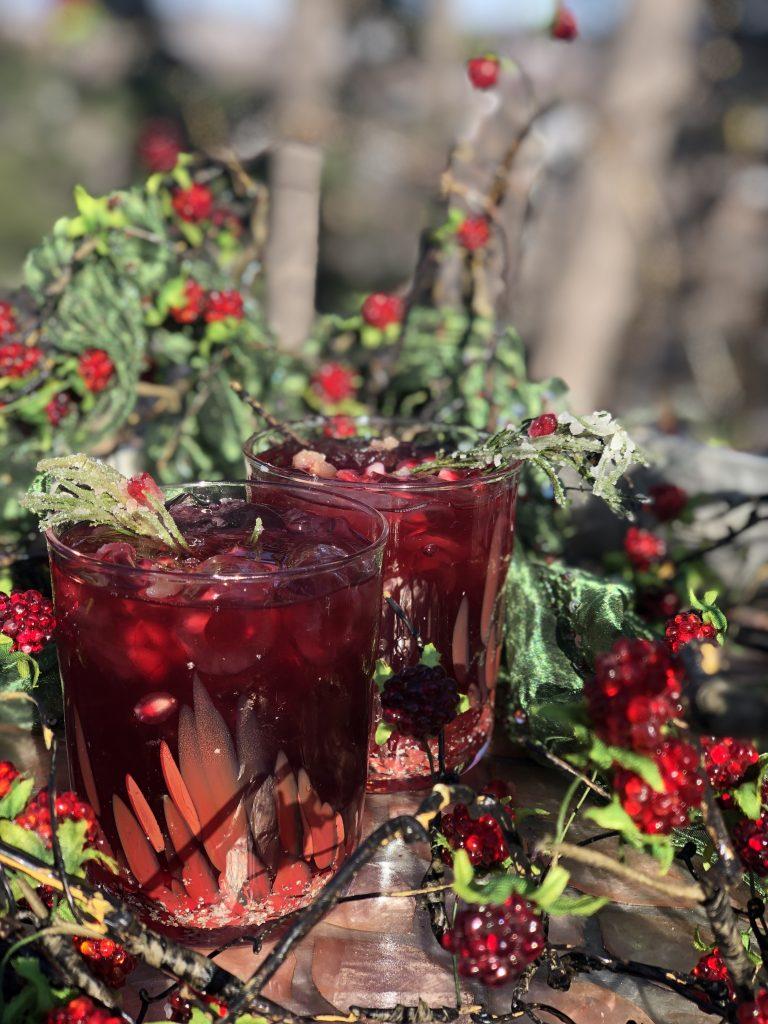 cranberry and pomegranates
